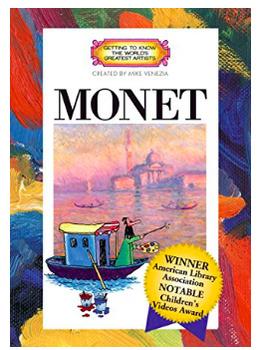 Art DVD - Getting to Know Monet- Mike Venezia - Art Room DVD Resource