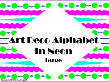 Art Deco Alphabet in Neon (large)