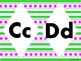 Art Deco Alphabet in Neon (large)