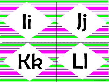 Art Deco Alphabet in Neon (small)