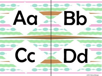 Art Deco Alphabet in Pastels (small)