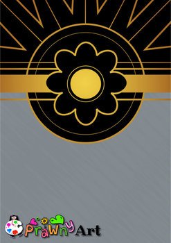 Art Deco Background Borders in Gold and Black