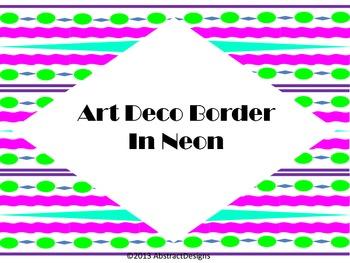 Art Deco Borders in Neon