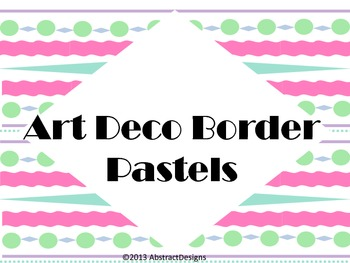 Art Deco Borders in Pastels