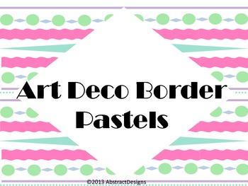 Art Deco Borders in Pastels