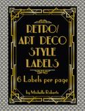 Art Deco Classroom Labels - Editable
