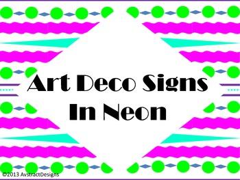 Art Deco Signs in Neon