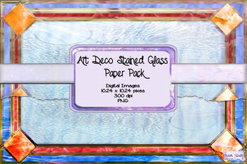 Art Deco Stained Glass Paper Pack