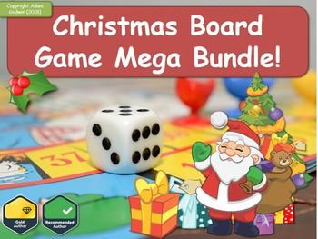 Christmas Board Design.Art Design Christmas Quiz Board Game Mega Bundle Fun Quiz Christmas