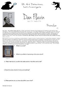 Art Detective - Dan Flavin, minimalism