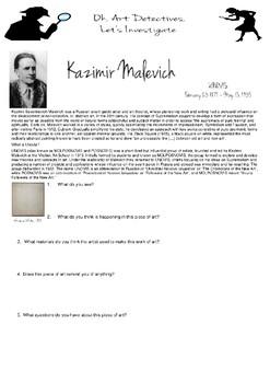 Art Detective, Kazimir Malevich, Unovis