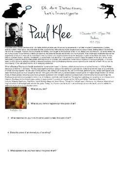 Art Detective- Paul Klee, Bauhaus