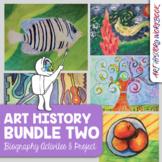 Art Distance Learning - Art History Workbook Bundle 2 - 5