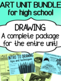 Art Drawing unit for high school - complete BUNDLE for dis