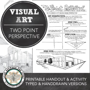 Art Drawing Basics Two Point Perspective Printable Worksheet Art