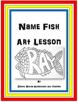 Art Drawing Lesson Name Fish