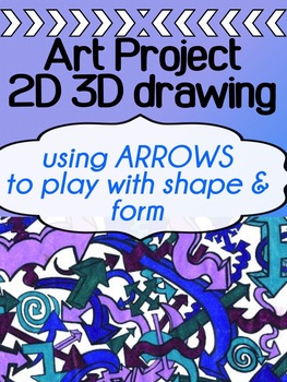 Art - Drawing Project for high school - 2D 3D Practice