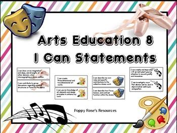 Arts Education 8 I Can Statements - Saskatchewan