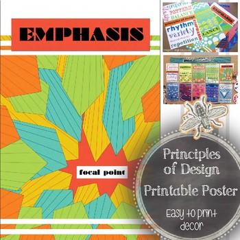 Art Education: Principle of Design, Emphasis, Printable Poster