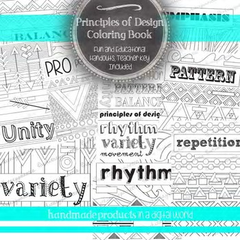 Principles of Design Review Packet: 10 Fill in with Color Art Posters