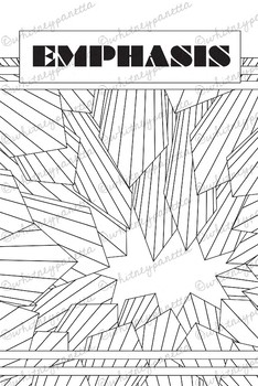 Principles of Design Review Packet: Printable Coloring Book Posters & Worksheets