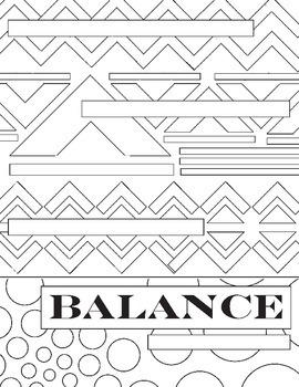 Principles of Design Coloring 10 Worksheet Packet: Art Basics Review