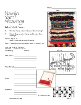 Art - Elementary / Navajo Yarn Weavings