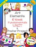 Art Elements 6 Week UNIT- Art Fundamentals & Art Elements Poster