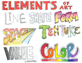 Art Elements Colored Poster
