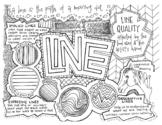 Art Elements   Coloring Page & Notes   BUNDLE   Line, Shap