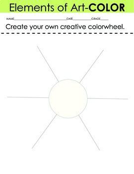 Art Elements Creative Color Wheel