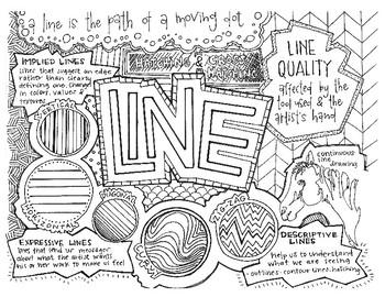 Art Elements | Line | Coloring Page & Notes