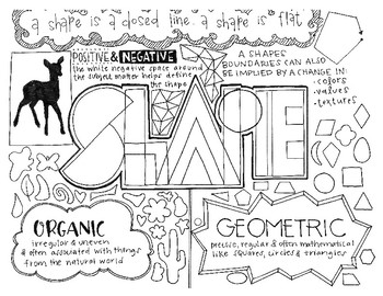 Art Elements | Shape | Coloring Page & Notes