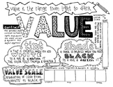 Art Elements   Value   Coloring Page & Notes