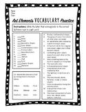 Art Elements Vocabulary Practice