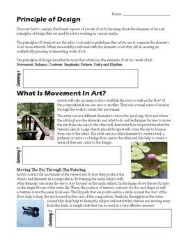 Art Elements and Principles 9+ Week Unit