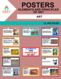 Art Elements and Principles of Art Posters