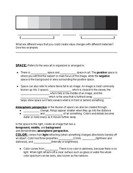 Art Elements guided notes for ppt presentation