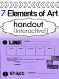 Art - Elements of Art Handout for high school