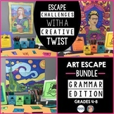 Art Escape Room Grammar Challenges BUNDLE - Project Based Learning (PBL)