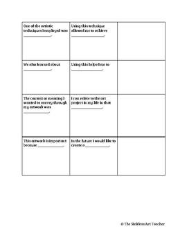 Art Essay Graphic Organizer