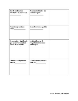 Art Essay Graphic Organizer