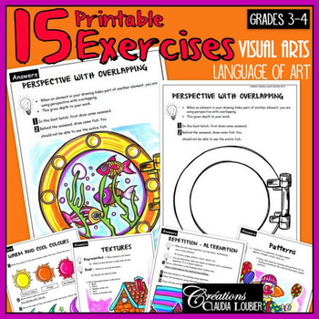 Art Exercises for Grades 3 and 4. Visual Art. Language of Art