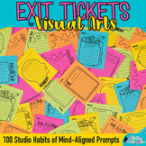 Art Exit Slips: 100 Unique Exit Tickets & Writing Prompts for Elementary Art