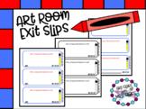 Art Exit Slips