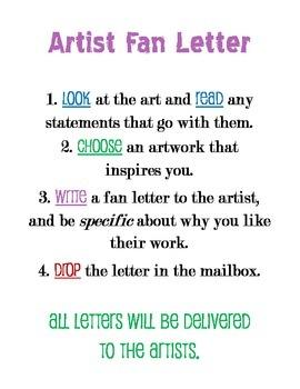 Art Fan Letters--Sign & Template