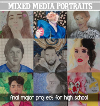 Art - Final major CPT Project - Mixed Media Portraits