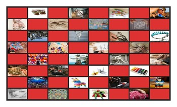 Art Forms Legal Size Photo Checkerboard Game
