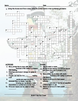 Art Forms Crossword Puzzle
