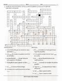 Art Forms Spanish Crossword Puzzle